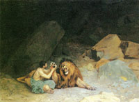 Jean-Léon Gérôme Androcles and the Lion