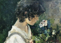Joaquin Sorolla y Bastida Italian girl with flowers