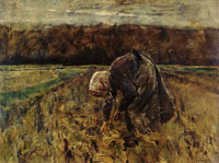 Max Liebermann - Woman Gathering Potatoes