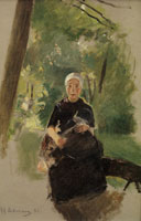 Max Liebermann Young Mother under Trees