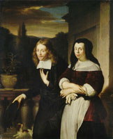 Frans van Mieris the Elder Portrait of a Couple