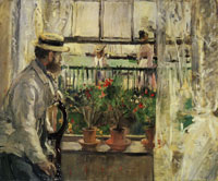 Berthe Morisot - Eugène Manet at the Isle of Wight