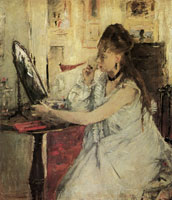 Berthe Morisot Young Woman Powdering her Face