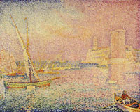 Paul Signac The Old Harbour. La Tour Saint-Jean (Marseille)