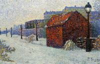 Paul Signac Snow in Montmartre
