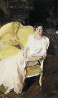 Joaquin Sorolla y Bastida Clotilde Sitting on the Sofa