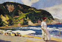 Joaquin Sorolla y Bastida María on the Beach, Zarauz