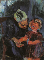 Chaim Soutine Grandmother and Child