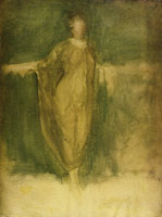 James Abbott McNeill Whistler Harmony in Green and Amber: A Draped Study