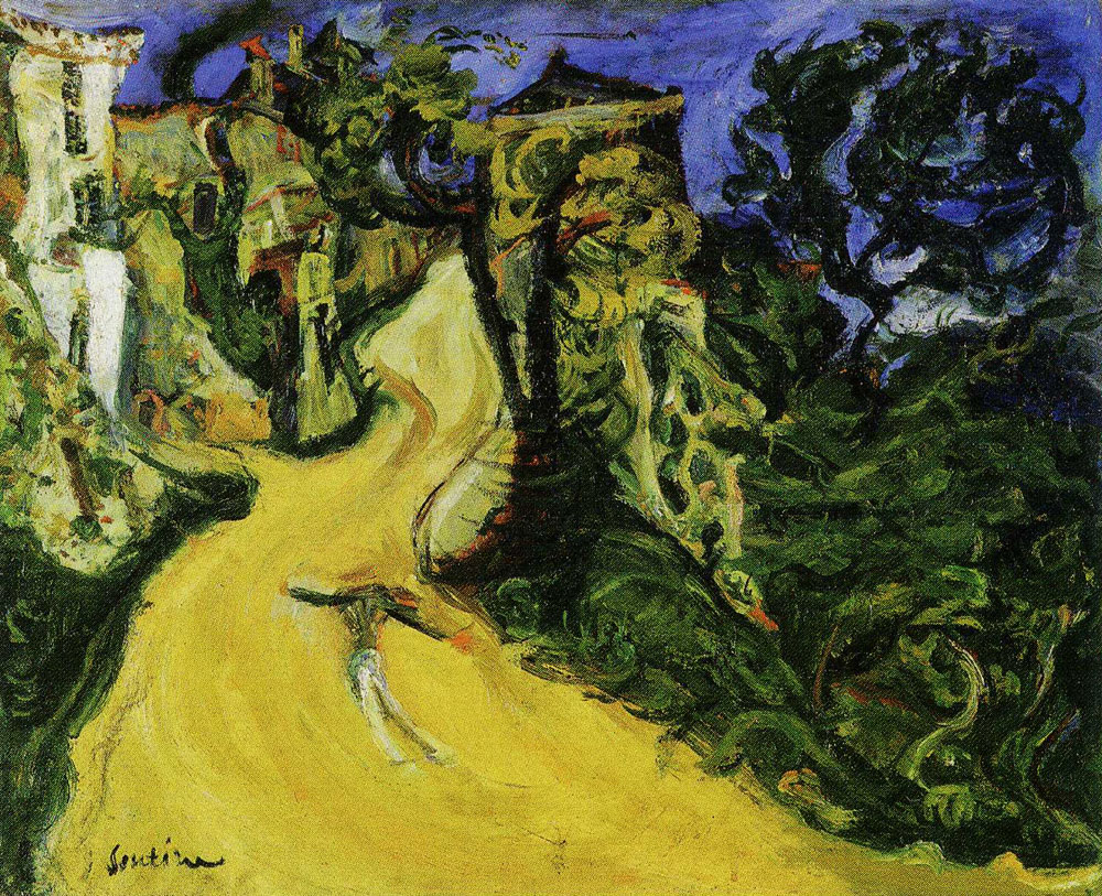 Chaim Soutine - Mountain Road at Cagnes