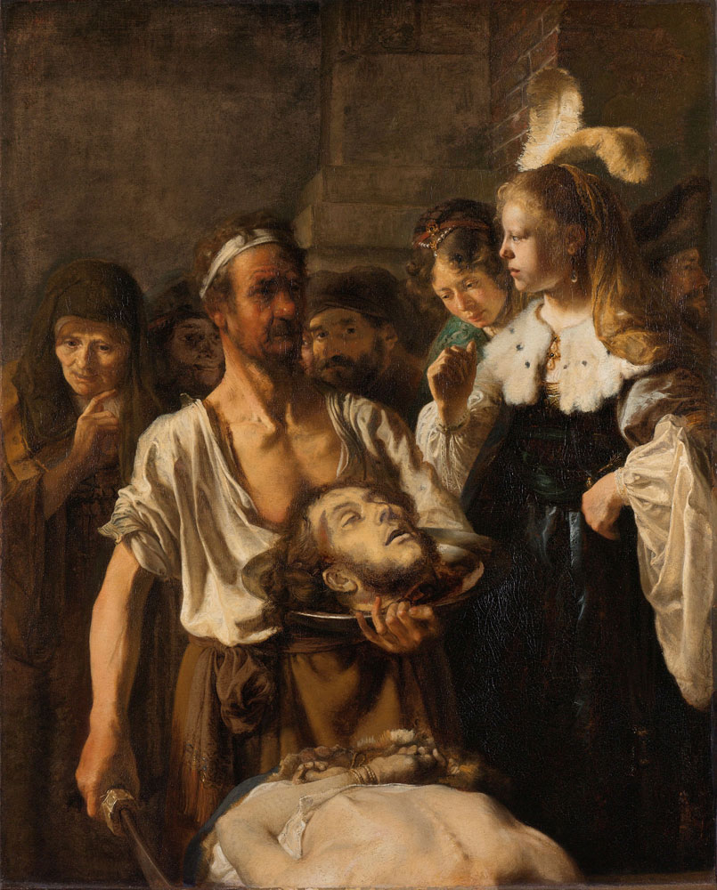 Circle of Rembrandt - Salome Receiving the Head of John the Baptist