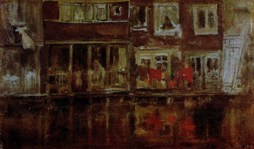 James Abbott McNeill Whistler - The Canal, Amsterdam