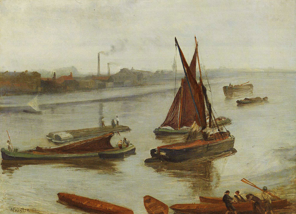 James Abbott McNeill Whistler - Grey and Silver: Old Battersea Reach