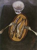 Chaim Soutine Still Life with Herrings