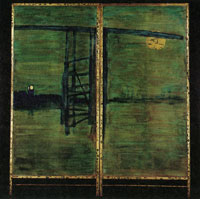 James Abbott McNeill Whistler Blue and Silver: Screen, with Old Battersea Bridge