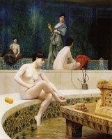 Jean-Léon Gérôme A Bath, Woman Bathing Her Feet