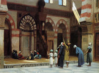 Jean-Léon Gérôme Prayer in the Mosque of Quat Bey, Cairo