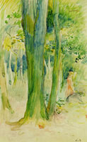 Berthe Morisot Under the forest trees
