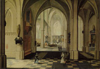 Peeter Neeffs the Elder Interior of a Gothic Church