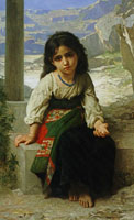 William-Adolphe Bouguereau Little Beggar