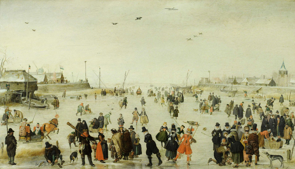 Hendrick Avercamp - Winter Scene on a Frozen Canal