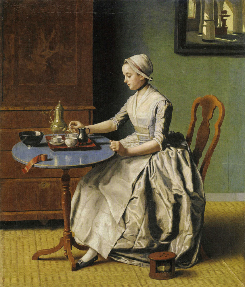 Jean-Etienne Liotard - A Dutch Girl at Breakfast