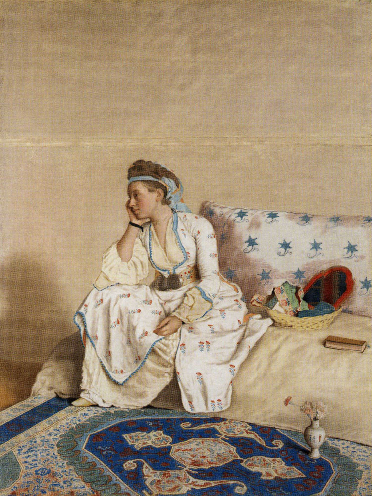Jean-Etienne Liotard - Marie Fargues, Wife of the Artist