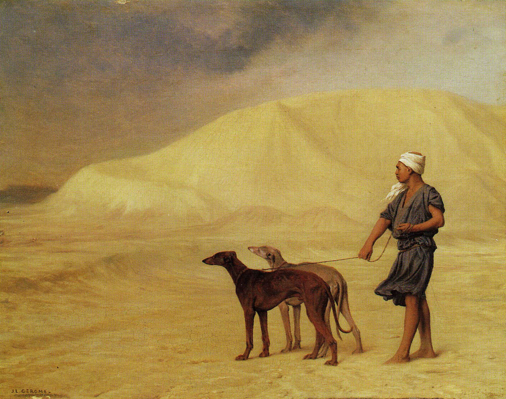 Jean-Léon Gérôme - A Relay of Hounds in the Desert