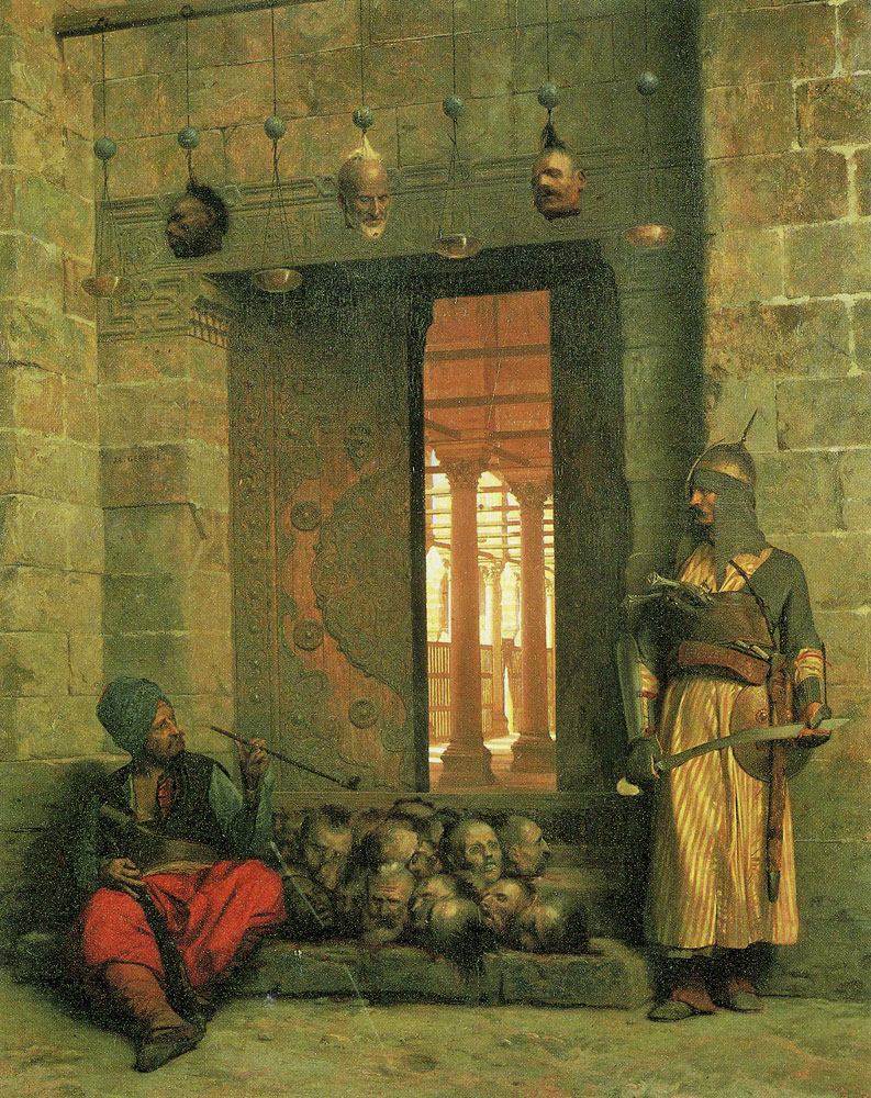Jean-Léon Gérôme - Heads of the Rebel Beys at the Mosque El Assaneyn