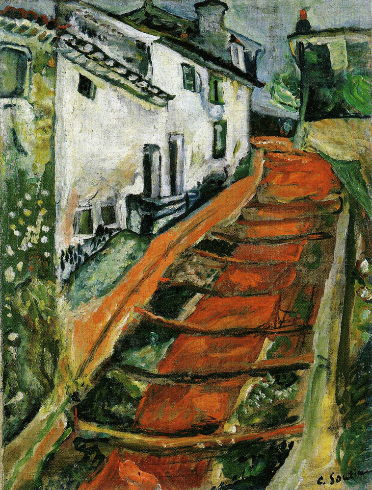 Chaim Soutine - The Red Stairs in Cagnes