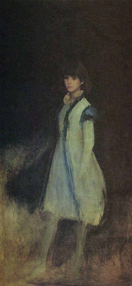 James Abbott McNeill Whistler - The Blue Girl: Portrait of Connie Gilchrist