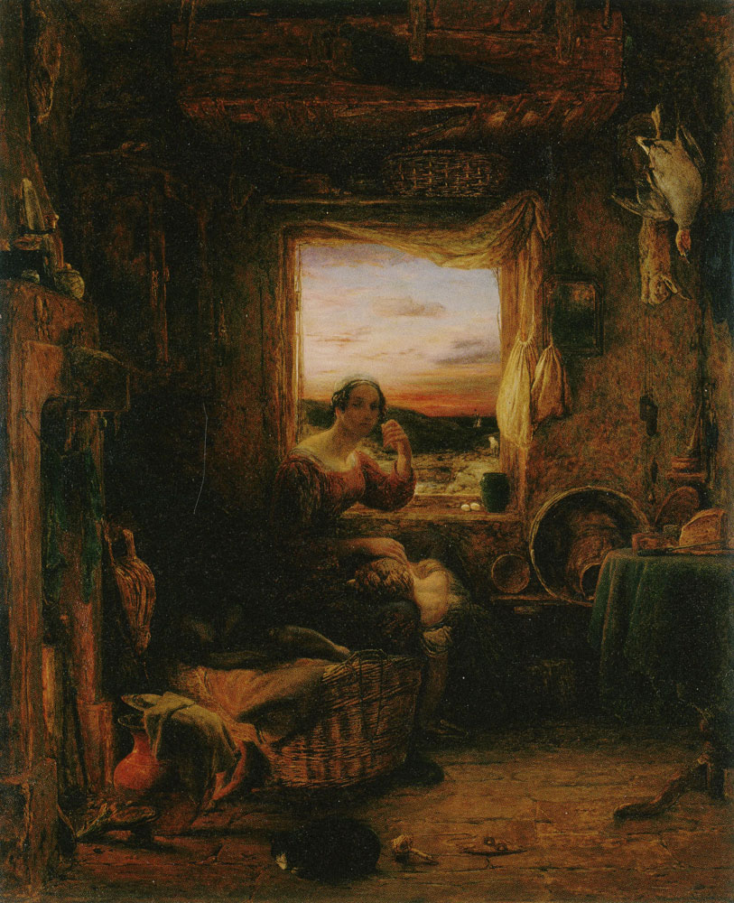 William Mulready - The Interior of an English Cottage