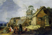 Abraham Bloemaert Landscape with Dilapidated Buildings and Figures