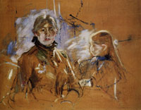 Berthe Morisot Self-Portrait with Daughter