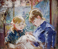 Berthe Morisot - The Sewing Lesson