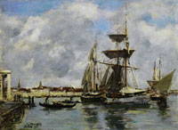 Eugene Boudin Venice, the Grand Canal