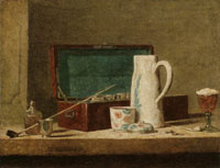 Jean-Siméon Chardin - Pipes and Drinking Vessel