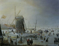 Hendrick Avercamp Landscape with a Windmill
