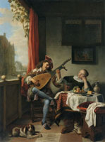 Hendrick Martensz. Sorgh The Lute Player