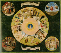 Hieronymus Bosch Tabletop with the Seven Deadly Sins