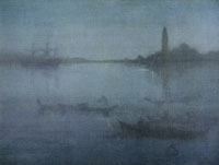 James Abbott McNeill Whistler Nocturne in Blue and Silver: The Lagoon, Venice