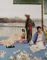 James Abbott McNeill Whistler Variations in Flesh Colour and Green: The Balcony