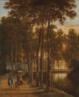 Jan Hackaert Avenue of birches