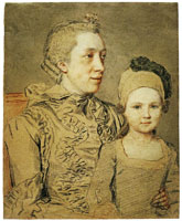 Jean-Etienne Liotard Marie Liotard-Fargues with Her Eldest Son Jean-Etienne Liotard