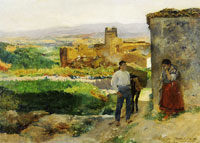 Joaquin Sorolla y Bastida Ruins of Buñol (Also known as The farewell)