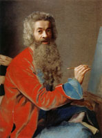 Jean-Etienne Liotard - Self-Portrait at the Easel