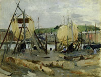 Berthe Morisot - Boats in construction