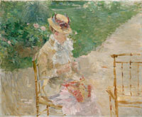 Berthe Morisot - Young Woman Knitting