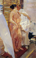 Joaquin Sorolla y Bastida After the Bath, the Pink Robe