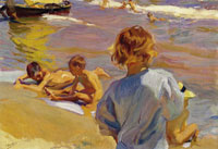 Joaquin Sorolla y Bastida Boys on the Beach
